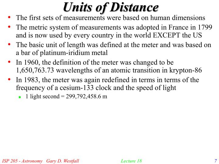 Units of Distance