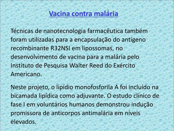 Vacina contra malria