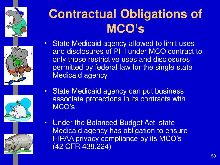 Contractual Obligations of MCO's