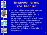 employee training and discipline