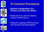 fi contract provisions