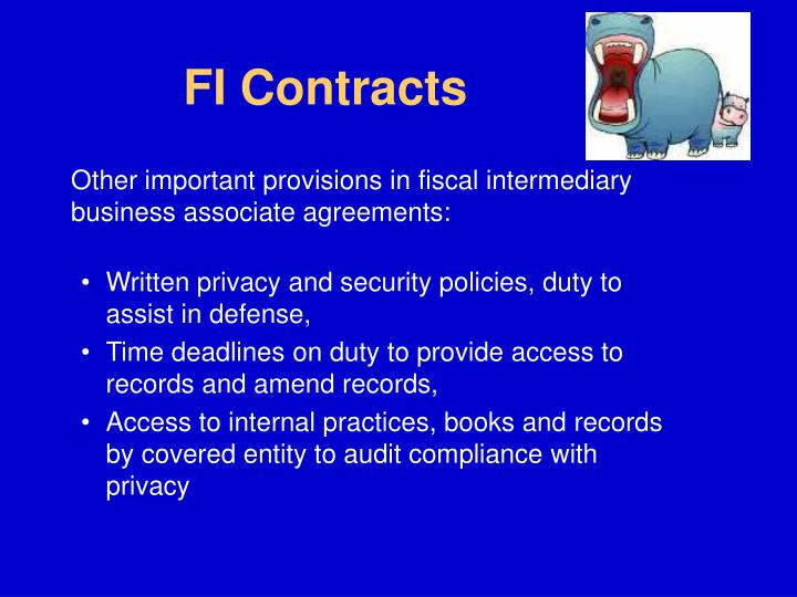 FI Contracts