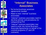 internal business associates