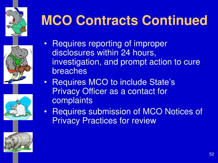 MCO Contracts Continued