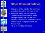 other covered entities