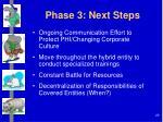 phase 3 next steps