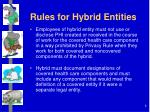 rules for hybrid entities