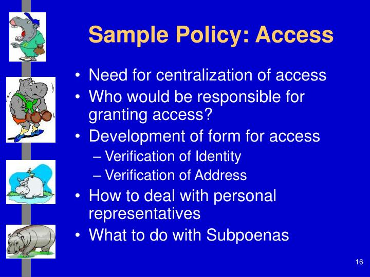Sample Policy: Access