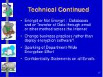 technical continued
