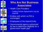who are not business associates