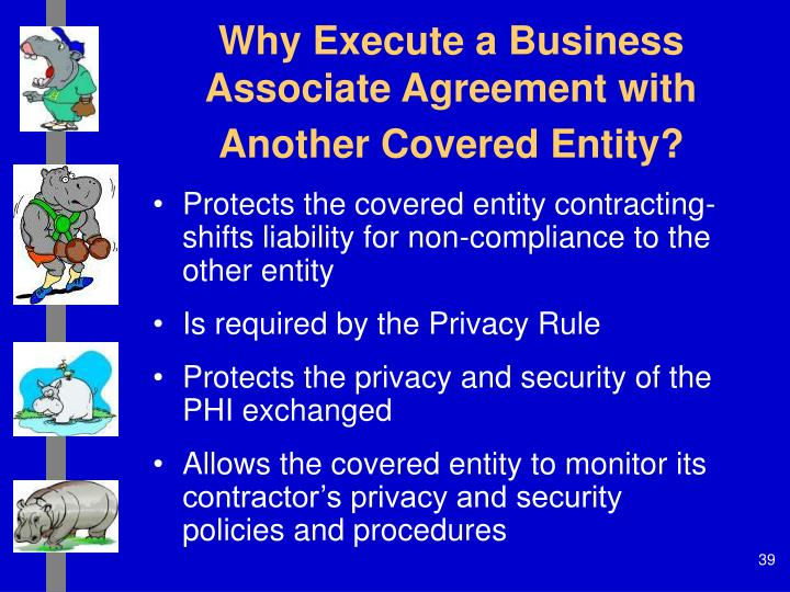 Why Execute a Business Associate Agreement with Another Covered Entity?