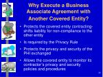 why execute a business associate agreement with another covered entity