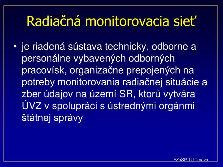 Radiačná monitorovacia sieť