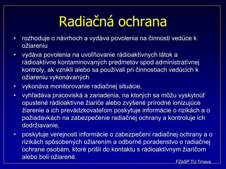 Radiačná ochrana