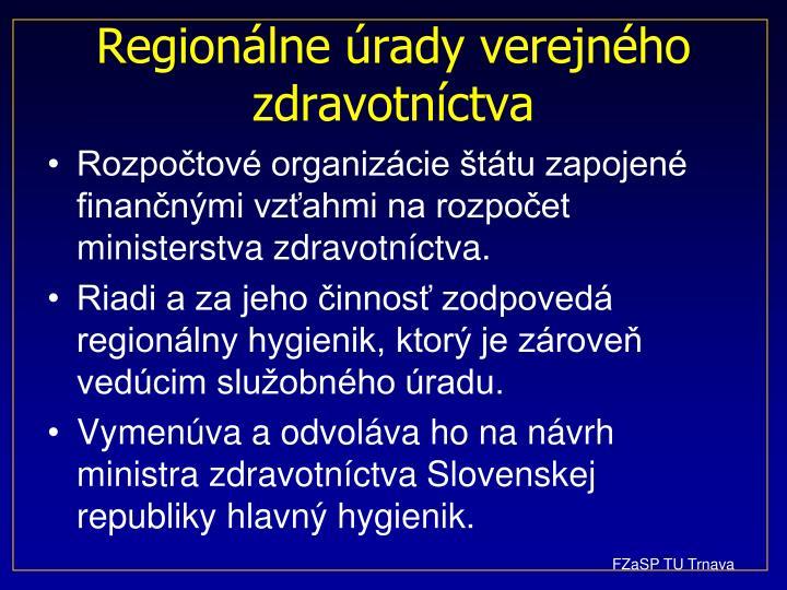 Regionálne úrady verejného zdravotníctva