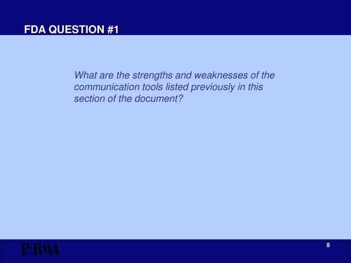 FDA QUESTION #1