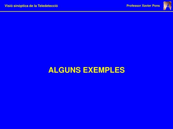 ALGUNS EXEMPLES