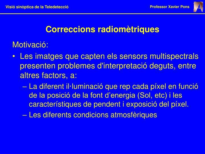 Correccions radiomètriques