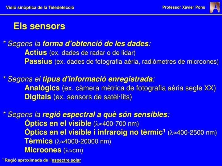 Els sensors