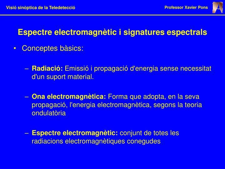 Espectre electromagnètic i signatures espectrals