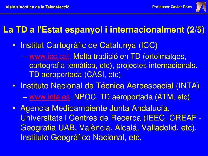La TD a l'Estat espanyol i internacionalment (2/5)