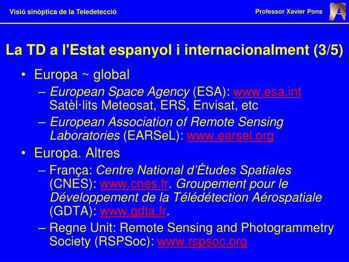 La TD a l'Estat espanyol i internacionalment (3/5)