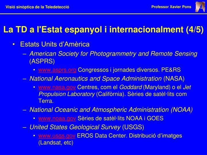 La TD a l'Estat espanyol i internacionalment (4/5)