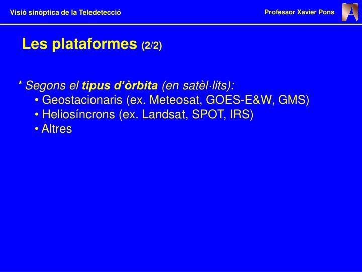 Les plataformes