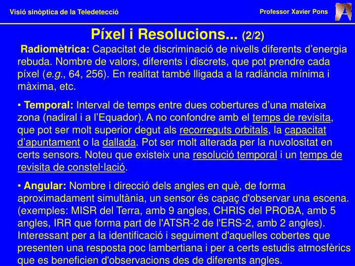 Píxel i Resolucions...