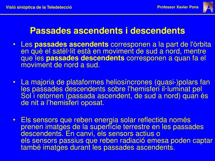 Passades ascendents i descendents