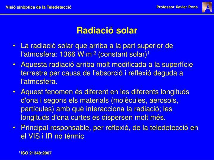Radiació solar