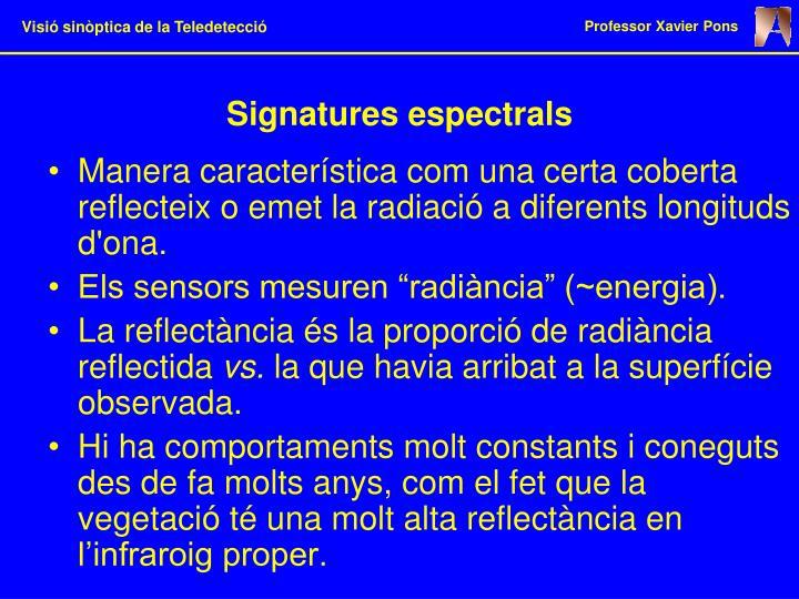Signatures espectrals