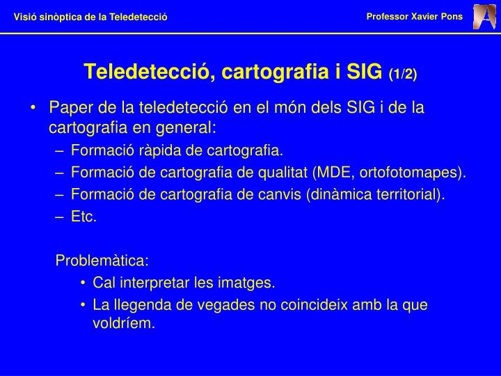 Teledetecció, cartografia i SIG