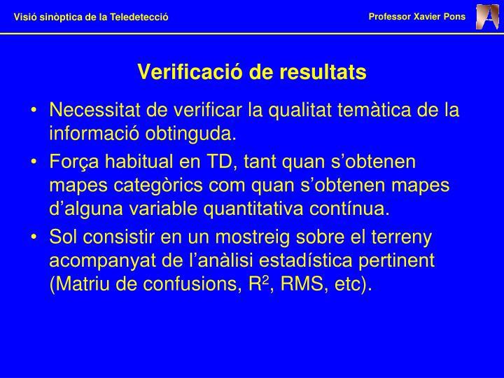 Verificació de resultats