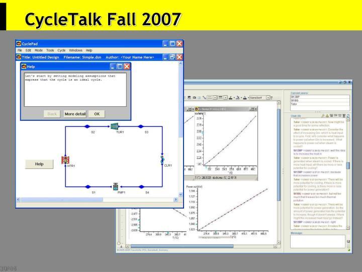 CycleTalk Fall 2007