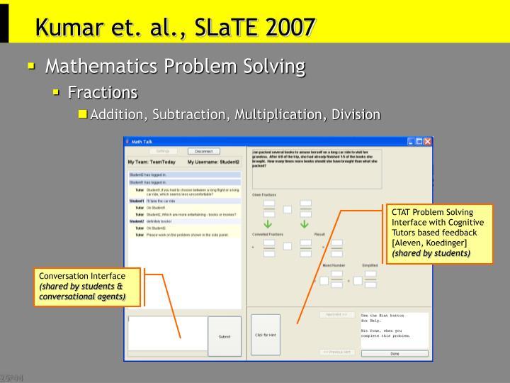 Kumar et. al., SLaTE 2007