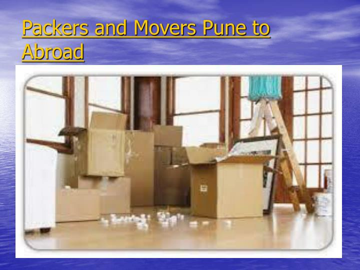 Packers and Movers Pune to Abroad