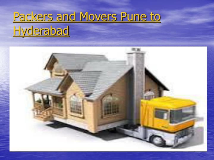 Packers and Movers Pune to Hyderabad