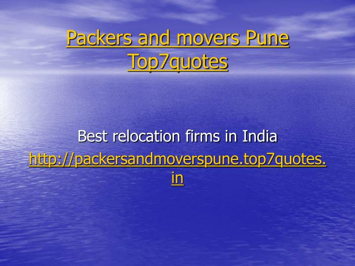 Packers and movers pune top7quotes