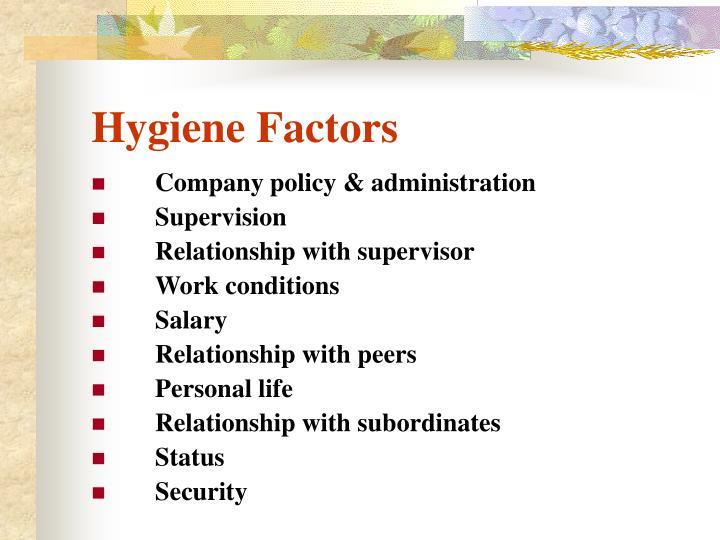 Hygiene Factors
