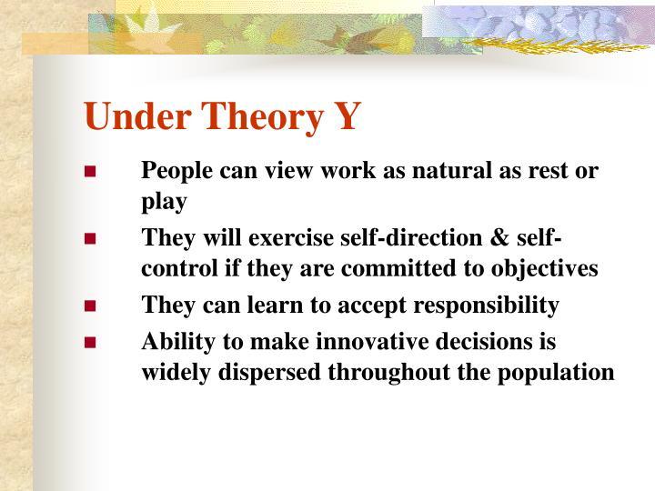 Under Theory Y