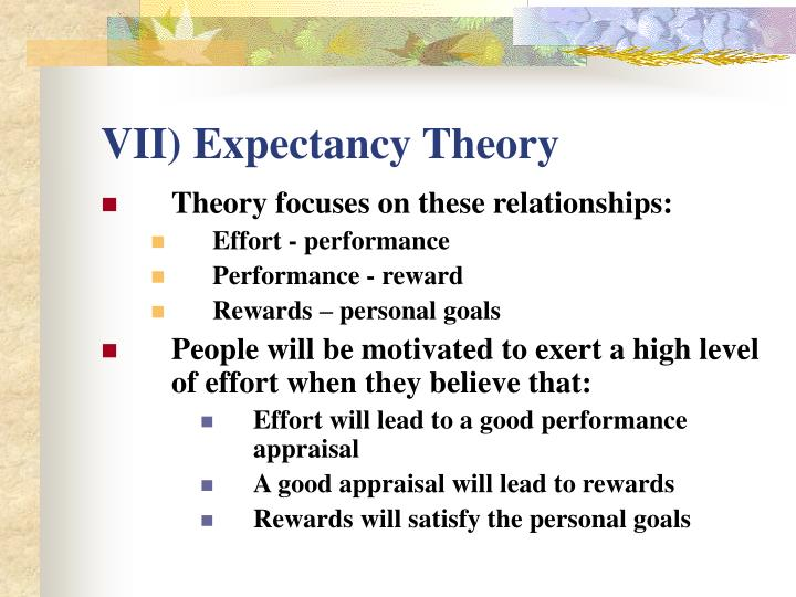 VII) Expectancy Theory
