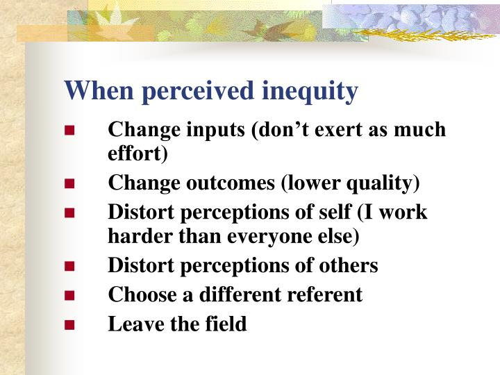 When perceived inequity