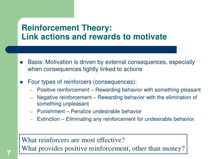 Reinforcement Theory: