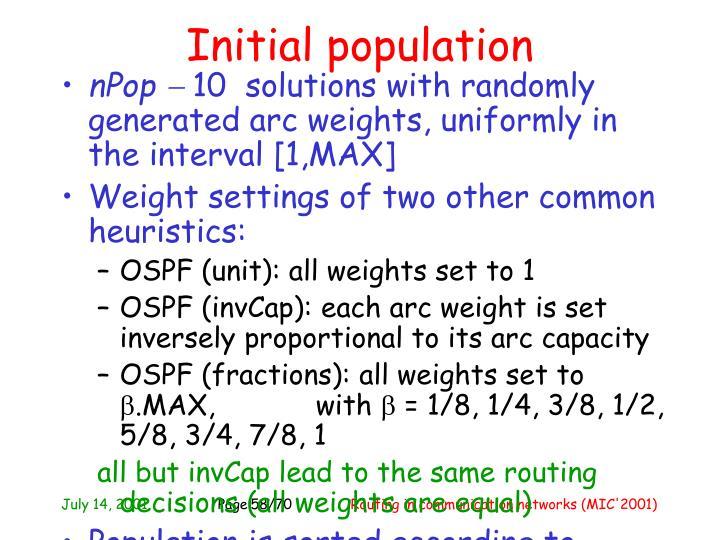 Initial population