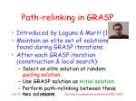 path relinking in grasp