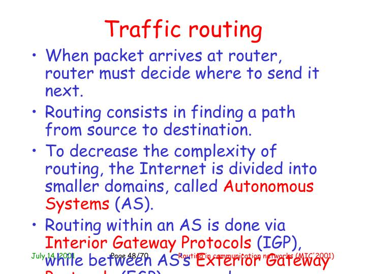 Traffic routing