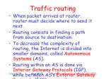 traffic routing