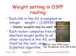 weight setting in ospf routing1