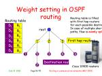 weight setting in ospf routing2